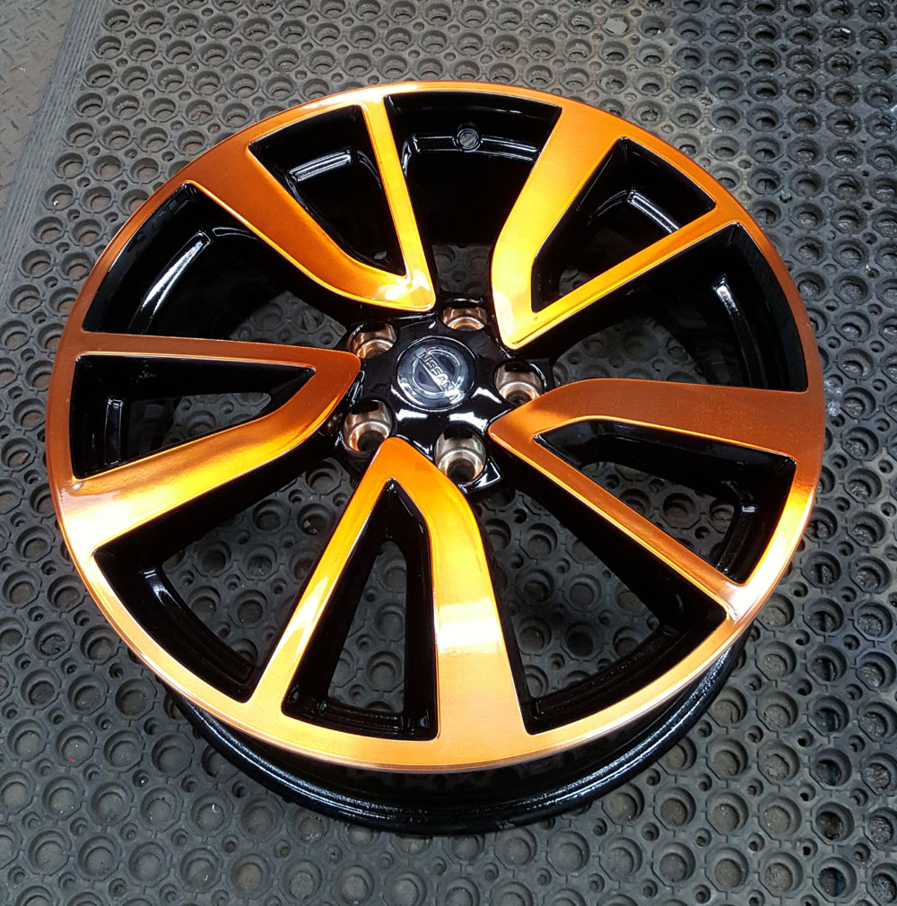 diamond cut alloy coloured lacquer